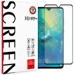 Black Full Coverage Tempered Glass Screen Protector for Huawei Mate 20